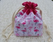 Flamingos Small Project Bag