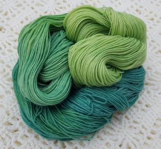 GREEN EYED MONSTER - 75% SW Merino, 25% Nylon, - 4ply