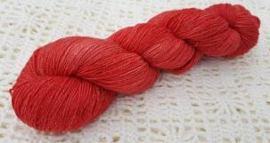 RUBY SLIPPERS - 75% SW Merino, 20% Nylon, 5% Silver Stellina - 4ply