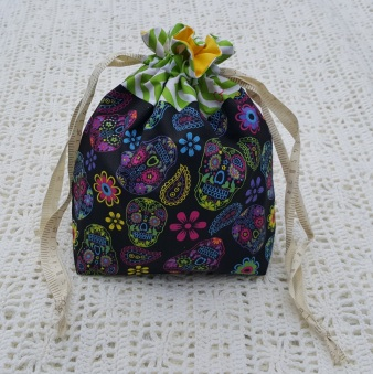 Skulls Small Project Bag