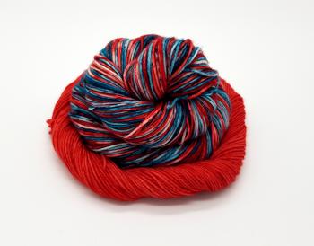 Christmas Stocking Sock Set - 75% SW Merino, 25% Nylon - 4ply